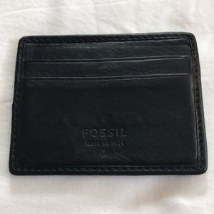 Fossil Card Holder - Leather